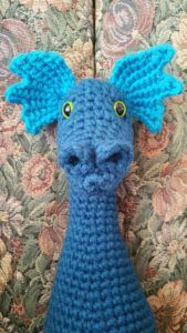 dragon amigurumi head frills 2