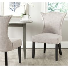Safavieh Ciara Grey Side Chair (Set of 2) - Overstock™ Shopping - Great Deals on Safavieh Dining Chairs