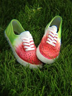 Watermelon shoes from EnvyAbsolute! Visit their shop on Etsy! All shoes are handmade Instagram: @envyabsolute