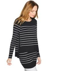 Double-Layer Stripe Top #whbm
