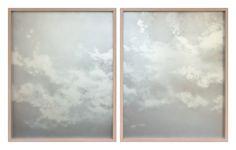 <i>Streamed</i> (dyptich), spray paint & glass, 35