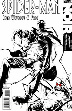 Spider-Man Noir: Eyes Without a Face # 4 (Variant) by Dennis Calero Eyes Without A Face, Initial Art, Violent Crime, Big Muscles, Comic Covers, Marvel Comics, Spiderman, Comic Books, Hero