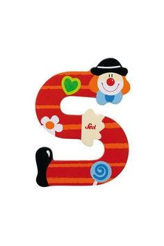 Sevi Alphabet (Clown) – Page 2 – SuperSmartChoices Painted Letters, Love Letters, Hand Painted, Carnival Birthday Parties, Circus Party, Clowns, Best Educational Toys, Learning Colors, Toy Boxes