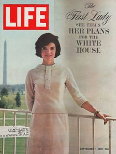 Lady Jacqueline Kennedy White House Shaw Photo LIFE COVER ONLY A1021