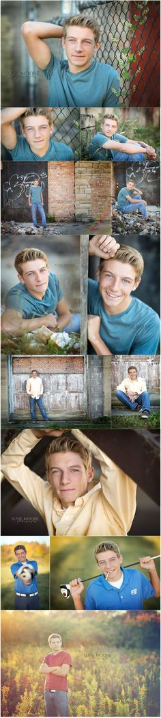 Male poses for high school seniors