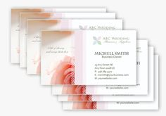 4 Wedding Business Card Templates in PSDxxx