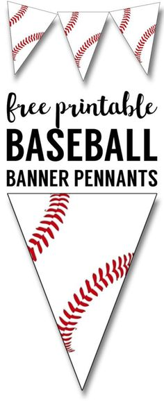 Free Printable Baseball Banner, baseball party decorations. Baseball themed birthday party, baseball baby shower, or little league baseball team party decor.