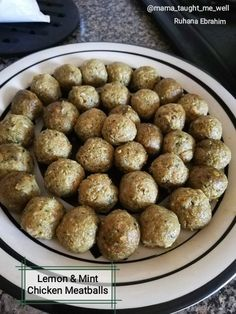 Lemon & Mint Chicken Meatballs recipe by Ruhana Ebrahim posted on 23 Sep 2018 . Recipe has a rating of by 1 members and the recipe belongs in the Chicken recipes category Chicken Meatball Recipes, Chicken Meatballs, Food Categories, Baked Potato, Real Food Recipes, Lemon, Mint, Dinner, Breakfast