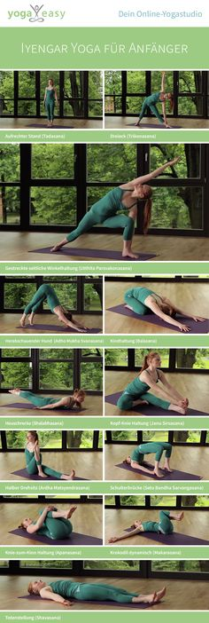Iyengar yoga for beginners - 30 Iyengar Yoga für Anfänger – 30 Min. This Iyengar yoga sequence by Marina Pagel is particularly suitable for beginners. You can watch the appropriate video here. Ashtanga Vinyasa Yoga, Iyengar Yoga, Yin Yoga, Yoga Régénérateur, Yoga Flow, Pilates Workout, Pilates Reformer, Yoga Fitness, Sport Fitness