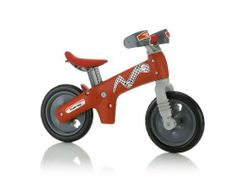 Italtrike Bi Balance Bike, Red by Italtrike. $129.74. From the Manufacturer                Learn to ride your bicycle by yourself. 7 height adjustable saddle from 13'' to 16''. Great and dynamic balance bike which will teach the child equilibrium and coordination all under safe conditions. Made in Italy. Features: Strong plastic body; 12'' wheels with EVA tires, wheels with ball bearings; seat, handlebar pads and hand protectors. For children 2 to 5 years old.  ...