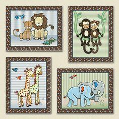 Noah's Ark Jungle Animals Nursery Baby Kids Wall Art Decor M2M s s Noah