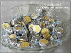 Rubber Ducky Baby Shower, Hershey Kisses decoration