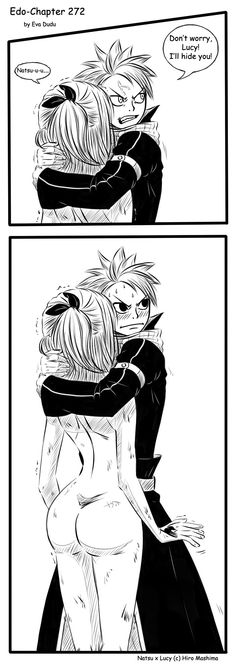 Natsu and Lucy - Wow!