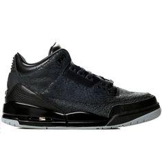 1073baea535e Air Jordan 3 Black Flip Black Metallic Silver 315767-001