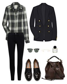 """""""Untitled #867"""" by afashionhouse ❤ liked on Polyvore featuring MiH Jeans, Theory, Steve Madden, Chloé, Byredo, Ray-Ban and Paige Novick"""