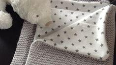 Couverture bébé au tricot doublée
