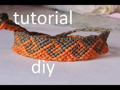 ▶ como hacer una pulsera macrame ola griega modelo 4 - YouTube