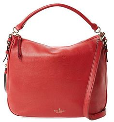 kate spade new york Cobble Hill Ella Leather Large Hobo Shoulder Bag, Dynasty Red *** Read more reviews of the product by visiting the link on the image.