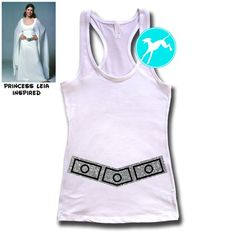 7a6a7e04214 Star Wars Disney Leia Princess costume belt shirt Disney Shirt razorback  Tank Top glitter race run