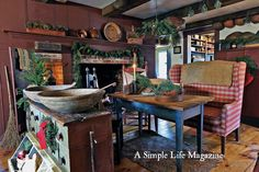 Winter 2015 issue of A Simple Life Magazine - Wonderful home of Bud and Louise Villa!