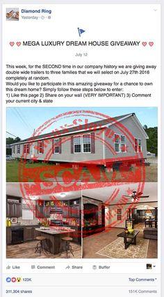 'Mega Luxury Dream House Giveaway' Facebook Scam