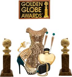 """golden globe awards"" by yaeli098098 ❤ liked on Polyvore"