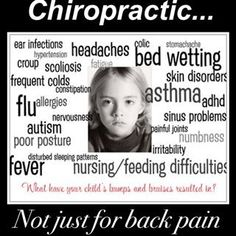 CHIROPRACTIC...NOT FOR BACK PAIN- IT'S FAR BIGGER THEN THAT! back pain areas