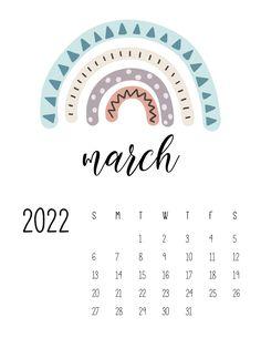 March Calendar Printable, Calendar March, Monthly Planner Printable, Print Calendar, Kids Calendar, Calendar Design, 2021 Calendar, Weekly Planner, Calendar Ideas