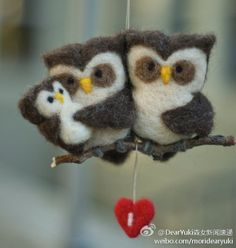 So sweet. Looks needle felted.
