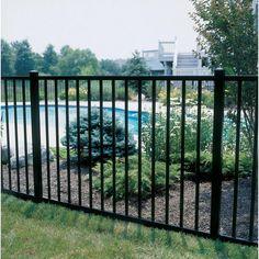 Allure Aluminum 4 ft. H x 6 ft. W Aluminum Black Unassembled Metropolitan 2-Rail Fence Panel-482EBL1 - The Home Depot