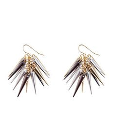 null (Multi Col) Gold and Silver Spike Cluster Drop Earrings | 255457599 | New Look