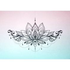 Image result for lotus mandala underboob tattoo