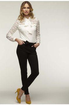 c3b639775b Blouse en dentelle ecru - tee-shirts femme - naf naf Blouse Dentelle  Blanche,