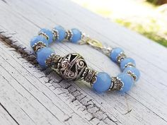 Water Tribe Jewelry Blue Jewelry Blue Bracelet Blue Glass Cyrstal Bracelet Nerd Jewelry Blue Crystal Bracelet Nerd Jewelry, Unique Jewelry, Water Tribe, Crystal Bracelets, Stretch Bracelets, Gifts For Her, Fancy, Crystals, Trending Outfits