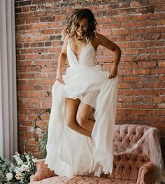 The Samantha customized with Michelle lace, by the talented Mustang Photography Signature Collection, Mustang, White Dress, Bride, Photo And Video, Wedding Dresses, Lace, Photography, Instagram