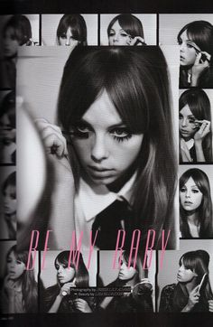 Edie Campbell plays up her perfect swinging sixties look here shot by Jessie Lily Adams