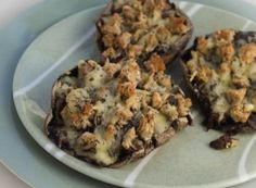 Portobello Mushrooms Stuffed with Caramelized Onions, Fresh Bread Crumbs and Manchego Cheese-287