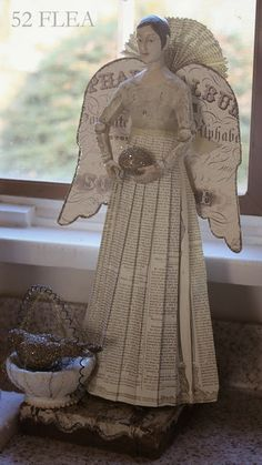 Great paper Angel Figure! 52 FLEA: Paula's Cozy Christmas Cottage 2013