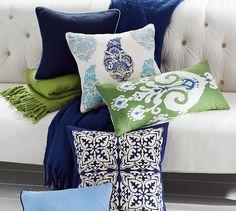 Sloane Ikat Pillow Cover | Pottery Barn