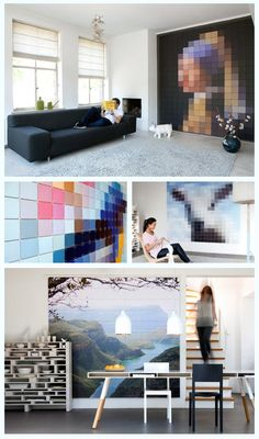 ixxi mooie pixel schilderijen
