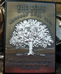 """""""The Lord Himself watches over you""""/Plaque/Mardel"""