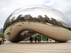 """Cloud gate"" by Anish Kapoor 