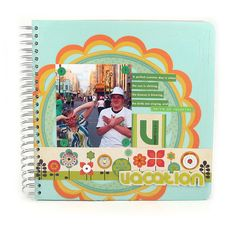 Create a fun vacation album for your pictures. #wermemorykeepers #cinchtool #minialbums