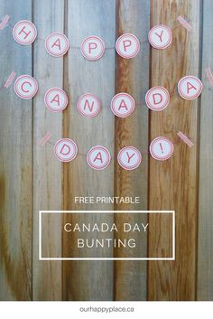 Want to add some patriotic decor to a Canada Day BBQ or party? Hang inside on a wall or outside above a patio to add that pop of red and white.