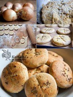 Kuchařka ze Svatojánu: CIBULÁČKY Czech Recipes, Bread Recipes, Good Food, Food And Drink, Pizza, Baking, Stuffed Bread, Bagels, Prague