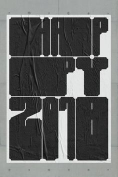 fabianmaierbode: #happy #2018 #customtype #poster #typography...