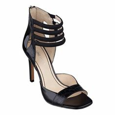 Spice things up with our Kylieanne open-toe ankle strap sandals. They're anything but bland! Back zip for easy on/off. Various uppers - simply place your mouse over the color or print in which you're interested to determine upper. Man-made lining and sole. Imported. 3 3/4 inch heels. Women's shoes. Ankle strap sandals.