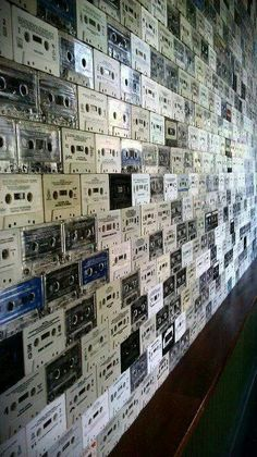 Cassette tapes ___awesome wall!!