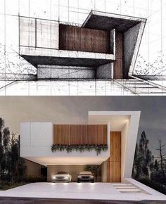 47 inspiring modern house design ideas 2019 11 House Designs Exterior design house ideas Inspiring modern The Effective Pictures We Offer You About lake House A quality picture can tell you many thing Villa Design, Home Design, Modern House Design, Modern Architecture Design, Minimalist Architecture, Facade Architecture, Architecture Images, Design Exterior, Facade Design