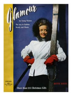 Betty Davis looking pale at the thought of actually using those planks...  Glamour Cover - January 1941 Premium Giclee Print
